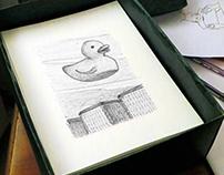 ballpoint pen, part one •  black & white illustrations