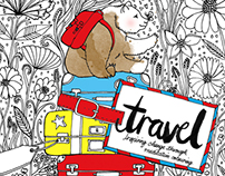 Travel Colouring Book - La La Land