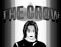 The Crow B&W poster