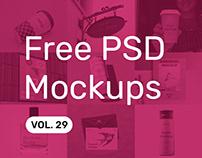 Free PSD Mockups vol. 29