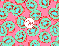 Sweet Kiwi Pattern