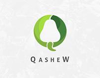 Qashew Logo design