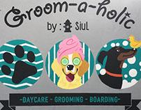 Groom-a-holic logo and mural design