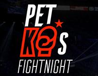 Petko's fight night visual identty