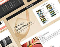 Sur La Terre - Wine & Food Experiences - Web Design