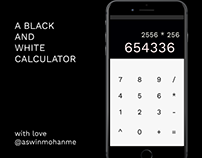 Bold and Bright Calculator - Daily UI 4
