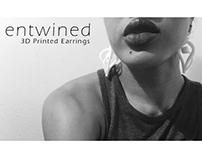 Entwined: 3D Printed Earrings