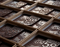 Typographic chocolate - handmade