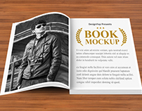 Free Open Book Mockup PSD