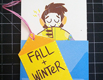 Fall + Winter (accordion zine)
