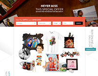 Gift Website Ecommerce Web Template (PSD Design)