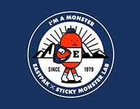 EASTPAK X STICKY MONSETR LAB