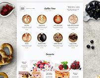 Minimalist Cafe-Bar Menu
