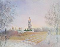 """painting """"Kyiv Pechersk Lavra"""""""