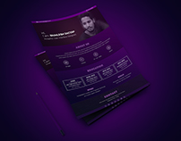 Creative One page Resume design template
