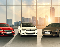 Cars Banner Image Retouching
