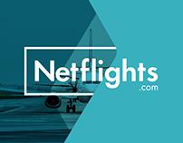 Netflights.com conceptual branding