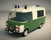 Low Poly Police Car 02