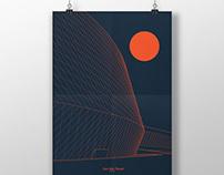 Architectural poster #46. Den Blå Planet