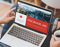 Free Man Using MacBook Air Mockup