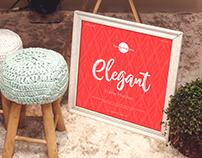 Free Elegant Frame Mockup Design
