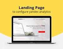 Landing Page - Yandex analytics