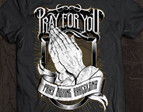 Pray For You - Pray Boxing Barcelona t-shirt design