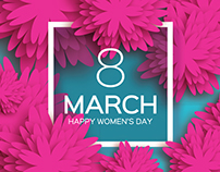 8 March. Paper craft Flower