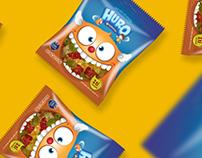 Huro Gummy Packaging design