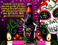 Cartel día de Muertos para Cerveza Aux