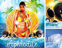 Aphrodite Beach Party FREE PSD Template
