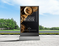 Park Side Outdoor Billboard Poster Mockup Free
