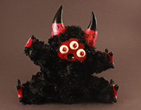 """Psychedelic Toy Little Lamb """"Fuzzy"""""""
