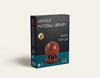 Arnold material library for C4D - C4DToA Pack 1