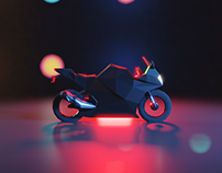 Lowpoly Motorcycle