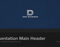 Data Technique Projection Presentation