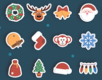 Christmas Stickers Set