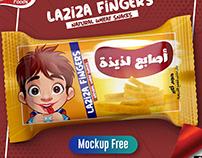 Laziza Fingers Snacks + Mock up psd Free Download