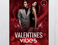 Valentine's Vibes - Free PSD Flyer Template