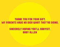 Thank You Card. Graphic Design.