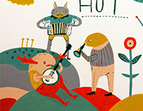 Fuzz Hut Mural