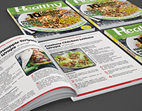 Healthy recipes magazine design