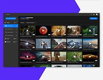 Dark mode cloud website UI/UX Design
