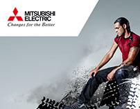 Corporate Anzeigekonzept für Mitsubishi Electric