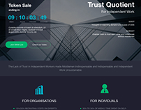 Landing page for ICO