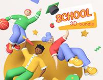 School time 3D bundle
