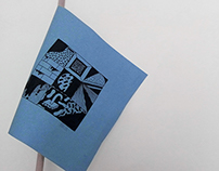 Flag blue paper
