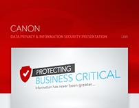 Canon's Data Privacy & InfoSec Presentation