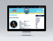 CREW Gymnastics Website ::: UI Design