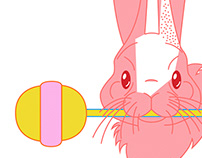 The Pink Rabbit and her Lollipop